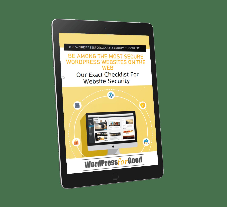 The WordPressforGood Security Checklist 2021 cover